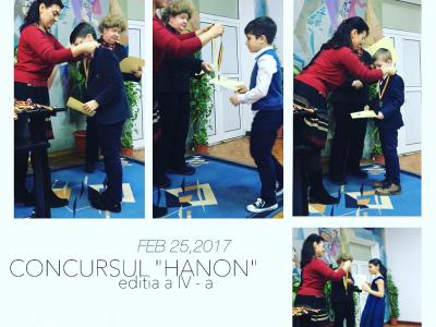 """4 premii la Concursul """"Hanon"""""""