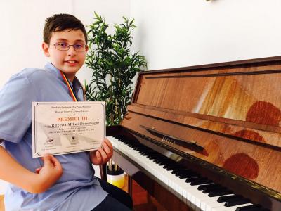 """Premiul III la Concursul de compozitie """"Pro Piano Romania"""""""
