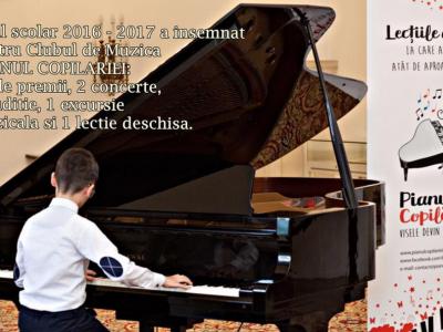 """Primul an de activitate a Clubului de Muzica """"Pianul Copilariei"""""""