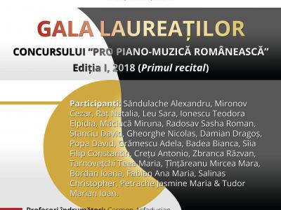Gala Laureatilor Concursului Pro Piano-Muzica Romaneasca