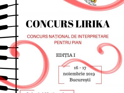 Concursul National de Interpretare pentru Pian LIRIKA