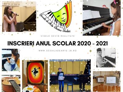 Inscrieri anul scolar 2020 - 2021
